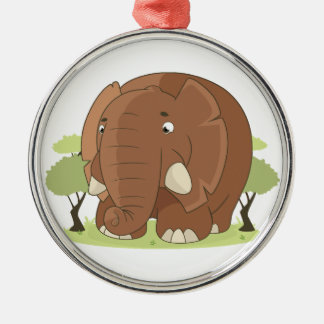 Niedlicher Elefant Silbernes Ornament
