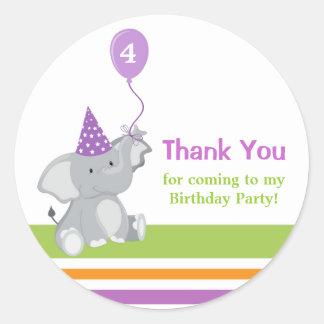 Niedlicher Elefant-u. Ballon-Geburtstag danken