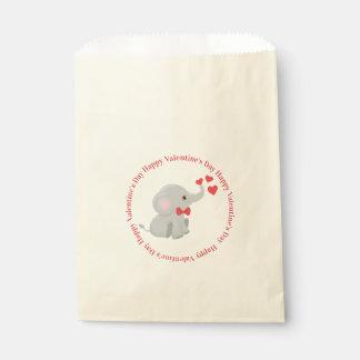 Niedlicher ElefantValentine Geschenktütchen