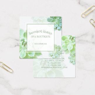Niedlicher eleganter Succulent Quadratische Visitenkarte