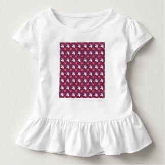Niedlicher Emoji Unicorn und Herz-Muster Kleinkind T-shirt