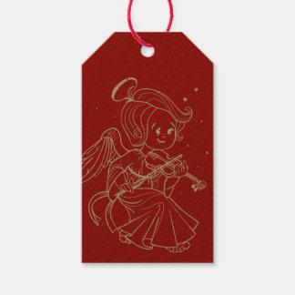 Niedlicher Engel, der Violine spielt Geschenkanhänger