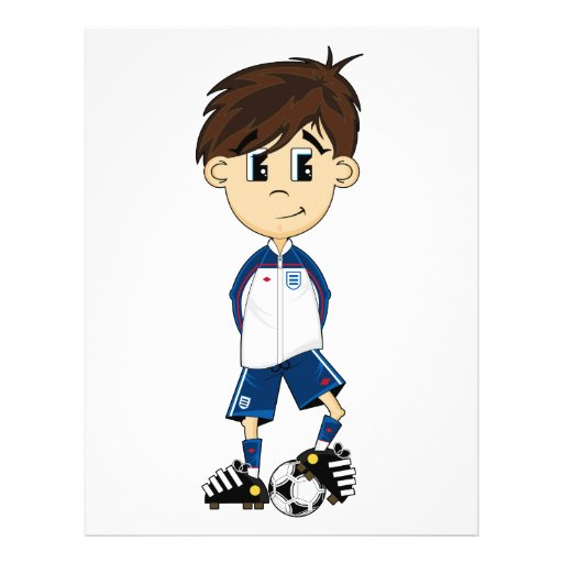 Niedlicher England-Fußball-Jungen-Flyer