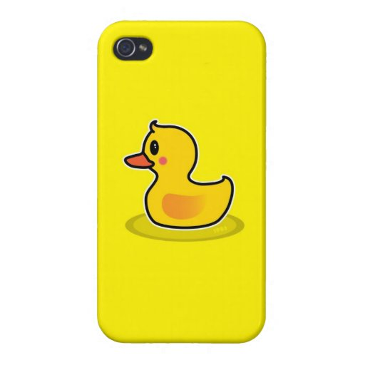 Niedlicher Enten-Schwimmen-Cartoon iPhone 4/4S Case