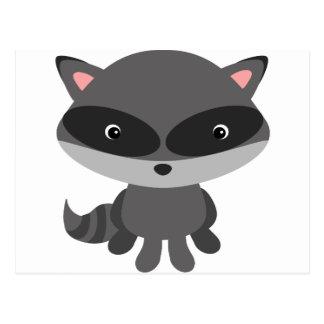 Niedlicher, entzückender Baby Raccoon Postkarte