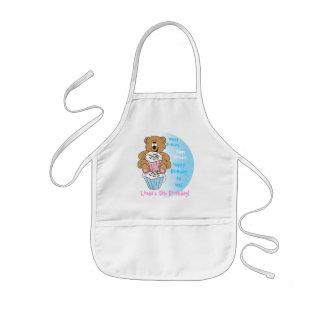 Niedlicher entzückender Kindergeburtstag-Bär Kinderschürze