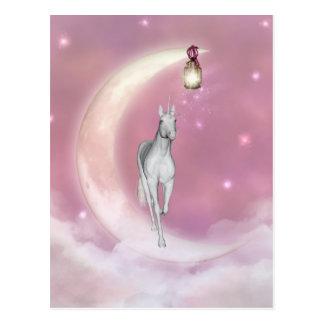Niedlicher entzückender mystischer Unicorn Postkarte