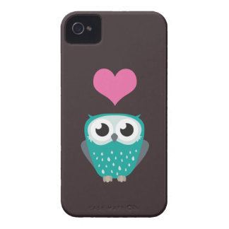 Niedlicher Eulen-u. Liebe-Herz-BlackBerry-mutiger Case-Mate iPhone 4 Hülle