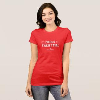 Niedlicher Feiertag Katze Meowy Weihnachten  T-Shirt