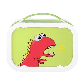 Niedlicher Feuer-Atem-Cartoon T-Rex Dinosaurier