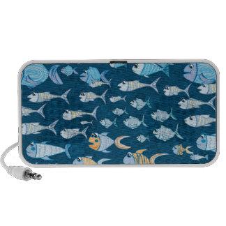 Niedlicher Fischgekritzel-Lautsprecher Mini Speaker