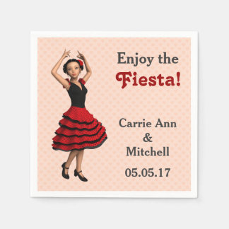 Niedlicher Flamenco-Tänzer (personalisiert) Serviette