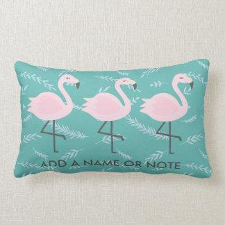 Niedlicher Flamingo-aquamarines Pastellkissen Zierkissen