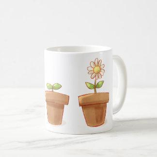 Niedlicher Flowerpot Kaffeetasse