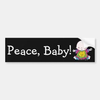 Niedlicher FriedensbabyHippie/Hippy gefärbte Autoaufkleber