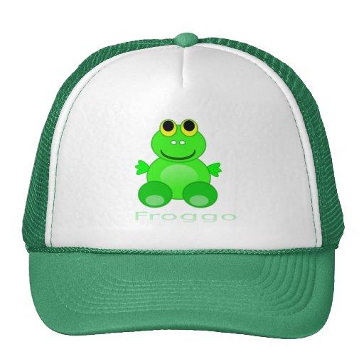 Niedlicher Froggo Frosch Retrokult Cap