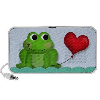 Niedlicher Froggy-Herz-Ballon - Mobiler Speaker