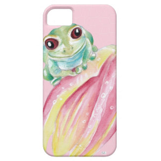 Niedlicher Frosch auf Rosa iPhone 5 Schutzhülle