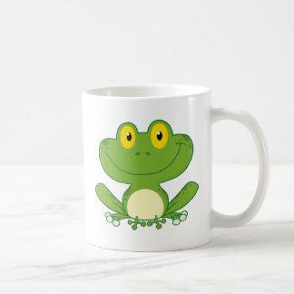 Niedlicher Frosch-Cartoon-Charakter Kaffeetasse
