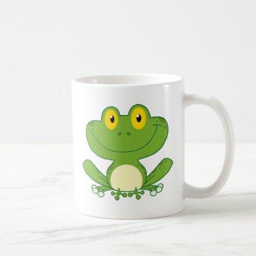 Niedlicher Frosch-Cartoon-Charakter Tassen