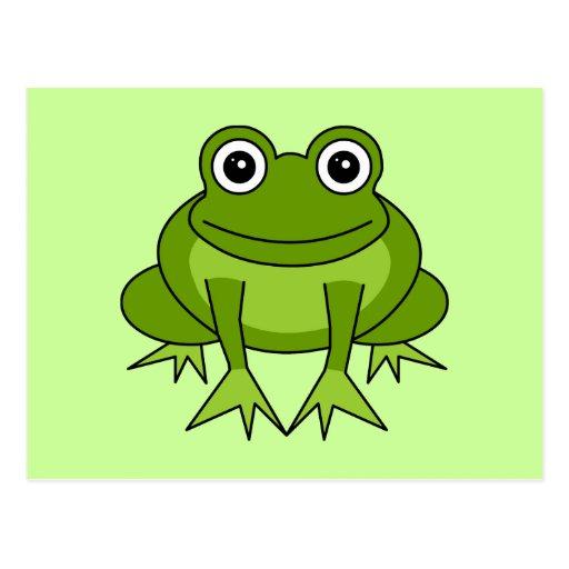 Niedlicher Frosch-Cartoon - Prinz im Training Postkarten