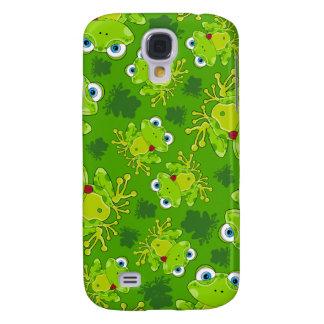 Niedlicher Frosch gemusterter iphone Fall Galaxy S4 Hülle
