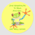 Niedlicher Frosch-lustige Tierkinder erhalten gut Runder Aufkleber