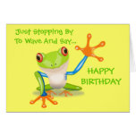 Niedlicher Frosch-lustiges Tier scherzt alles Gute Karten