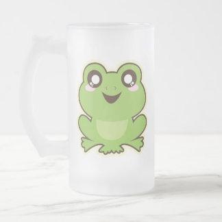 Niedlicher Frosch Mattglas Bierglas