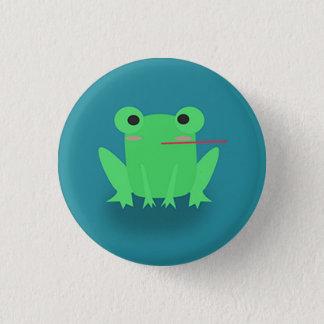 Niedlicher Frosch Runder Button 2,5 Cm
