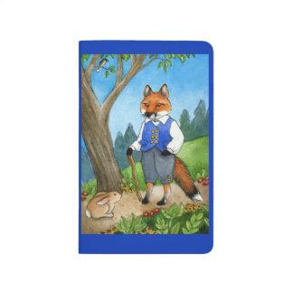 Niedlicher Fuchs, Häschen, Waldzeitschrift Taschennotizbuch