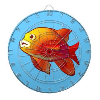 Niedlicher Garibaldi Fisch-Cartoon Dartscheibe