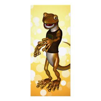 Niedlicher Gecko Personalisierte Einladungskarte