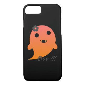 """Niedlicher Geist mit Blume und Wort """"Boo """" iPhone 8/7 Hülle"""