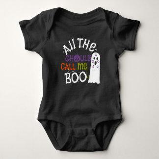 Niedlicher Geist und Ghouls-Halloween-T-Shirt Baby Strampler