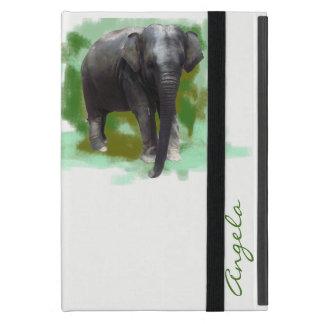 Niedlicher gemalter Baby-Elefant mit individuellem iPad Mini Etuis