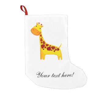 Niedlicher Giraffen-Cartoon Kleiner Weihnachtsstrumpf