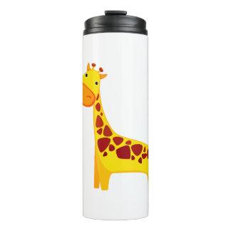 Niedlicher Giraffen-Cartoon Thermosbecher
