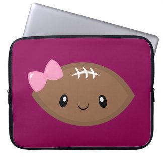 Niedlicher Girly Fußball Emoji Laptopschutzhülle