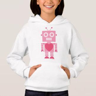 Niedlicher Girly Roboter Hoodie