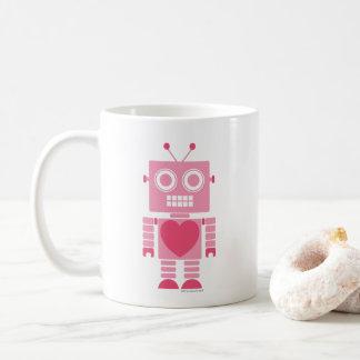 Niedlicher Girly Roboter Kaffeetasse