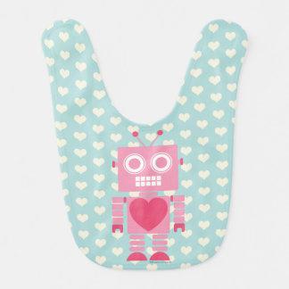 Niedlicher Girly Roboter Lätzchen