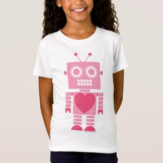 Niedlicher Girly Roboter T-Shirt