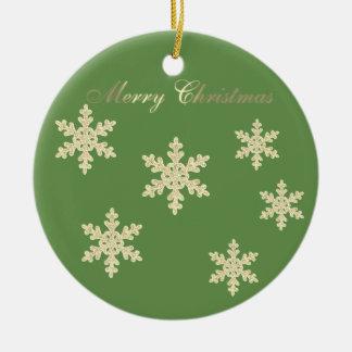 Niedlicher Glittery Imitat-Goldweihnachtsbaum, Keramik Ornament