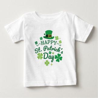 Niedlicher glücklichen St Patrick Tag glücklich Baby T-shirt
