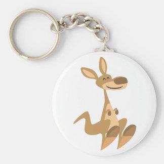 Niedlicher glücklicher Cartoon-Känguru Keychain Schlüsselanhänger
