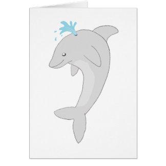 Niedlicher glücklicher Delphin Karte