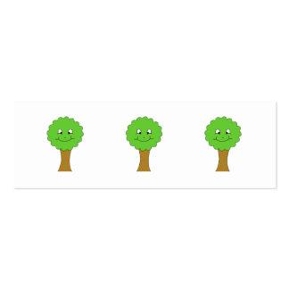 Niedlicher glücklicher grüner Baum. Auf Weiß Jumbo-Visitenkarten
