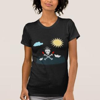 Niedlicher glücklicher Piraten-Schädel mit Maracas T-Shirt