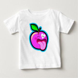 Niedlicher glücklicher rosa Apfel für Baby im T-shirt